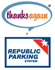 thanks again republic parking system logo